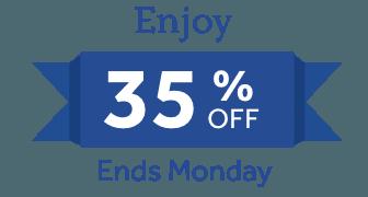 Enjoy 35% Off Through Monday