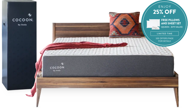 Cocoon Mattress now 25% off, plus get two free pillows and a sheet set bundle valued at $179
