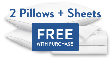 2 Free Pillows and Free Sheet Set with purchase