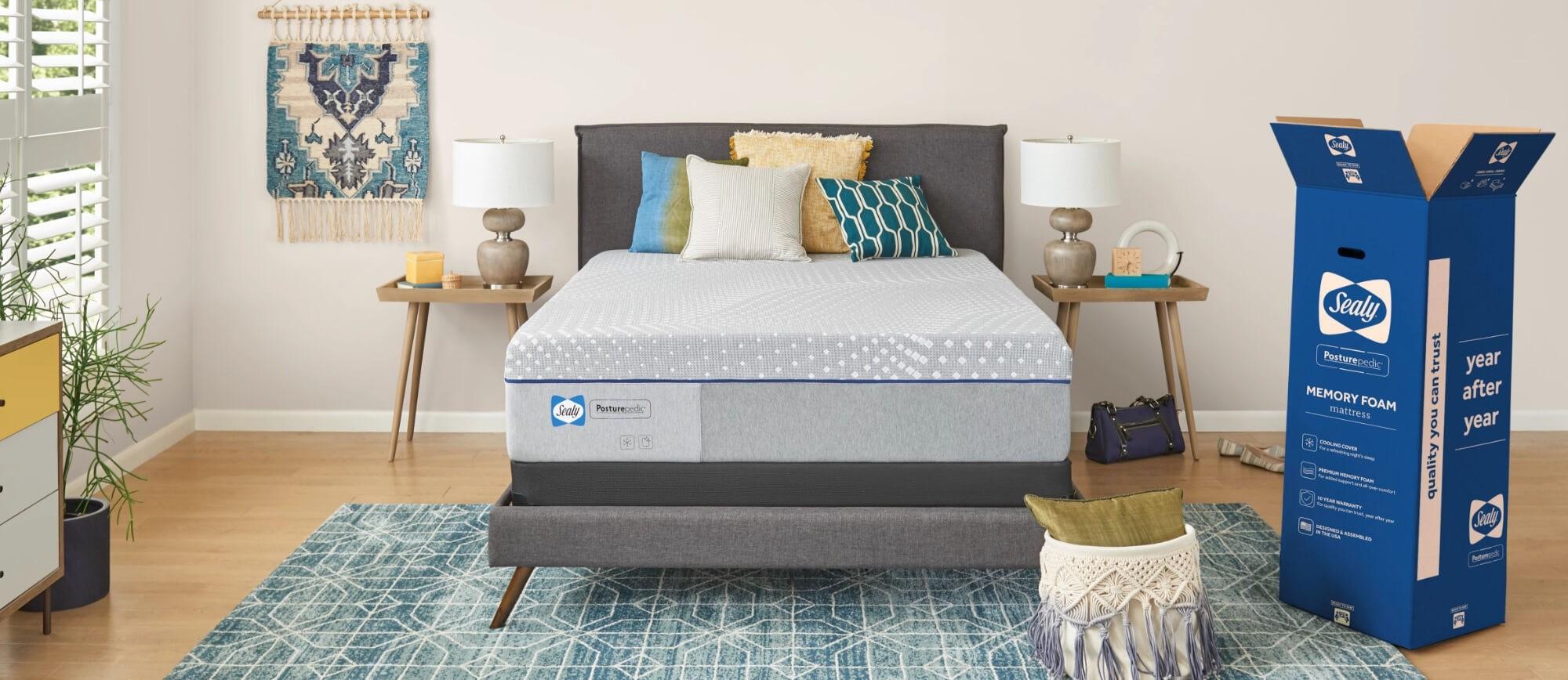 posturepedic foam mattress