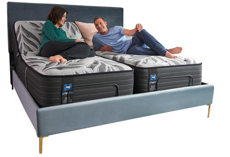 Man and Woman Laying On Hybrid Premium Bed