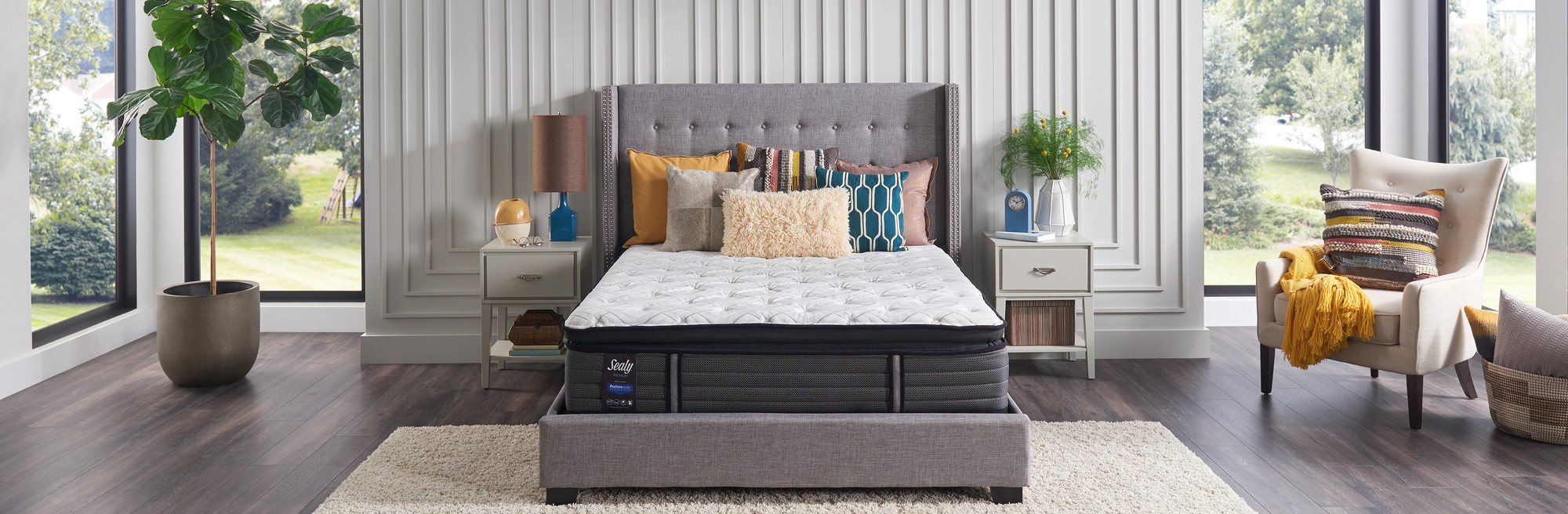 Sealy Response Premium Mattress in a stylish bedroom