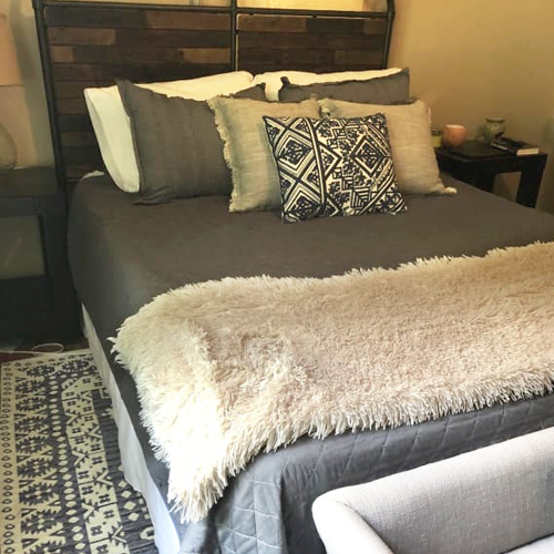 Sealy Mattress in a styled bedroom